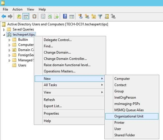 Active Directory Organizational unit