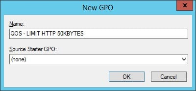 GPO - Create QoS Traffic Shaping