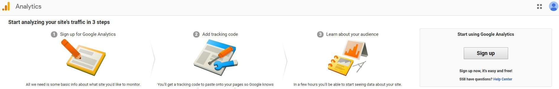 Google Analytics Initial Page