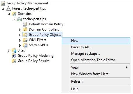 Windows 2012 New GPO