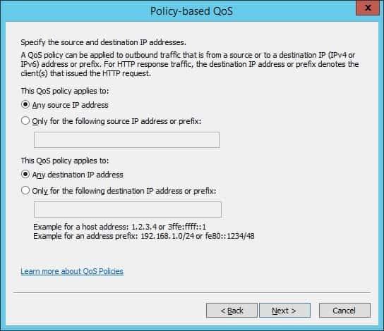 Windows Qos Source and Destination