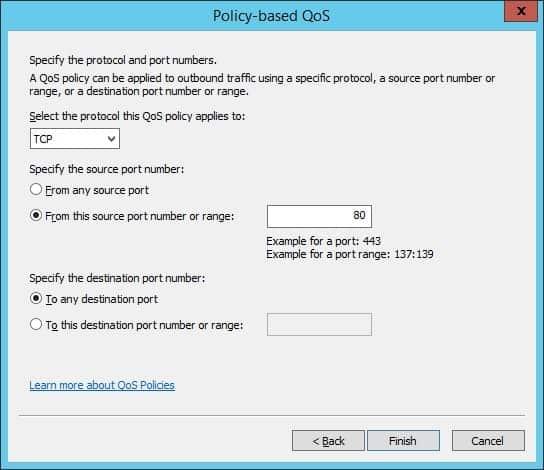 Windows Qos limit output