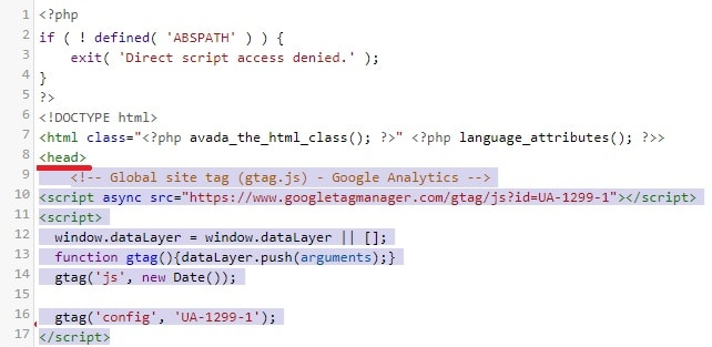 Wordpress Google Analytics