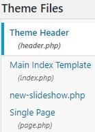 Wordpress edit header