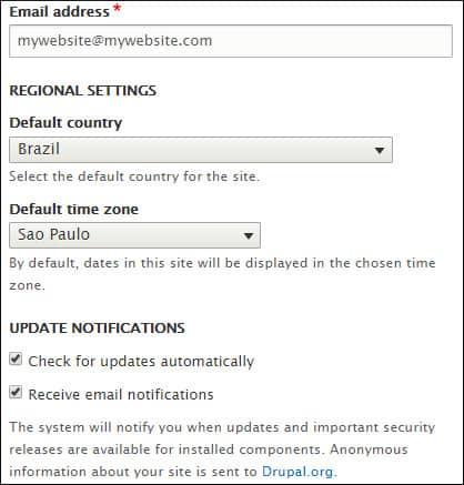 Drupal website admin