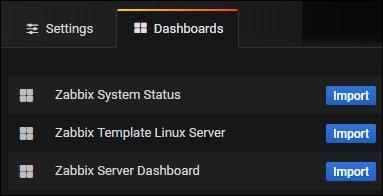 Grafana zabbix dashboard