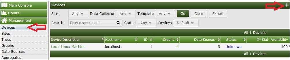 cacti monitor linux
