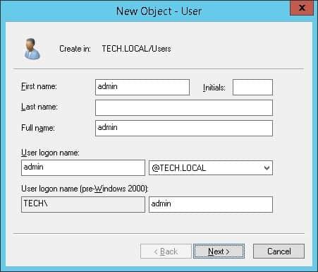 Activedirectory LDAP Admin Account