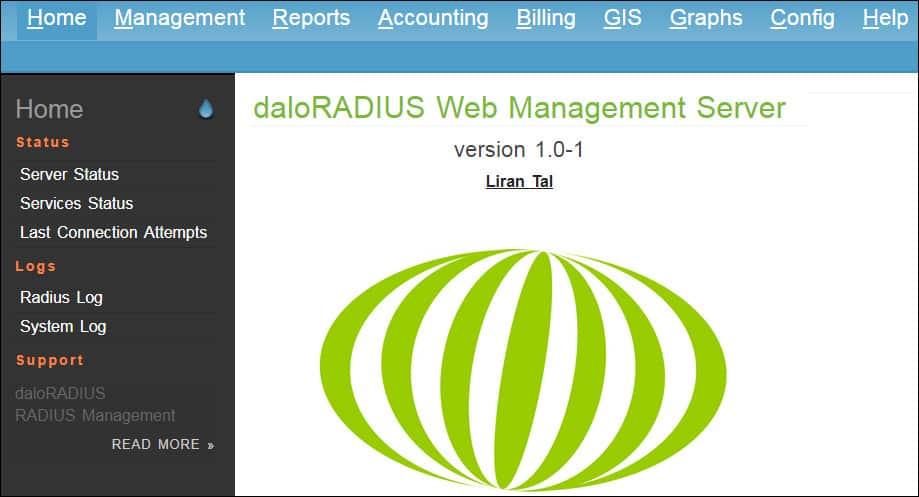 Daloradius Dashboard