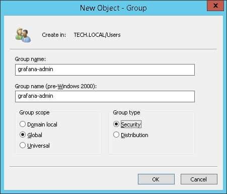 grafana ldap active directory admin group