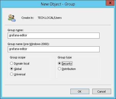 grafana ldap active directory editor group