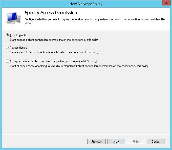 NPS Access granted