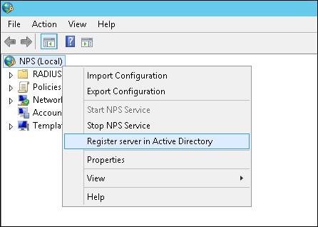 authorize radius server on windows