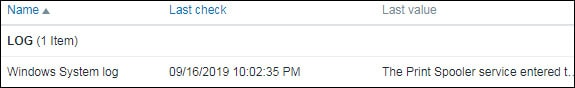 Zabbix event log monitor windows