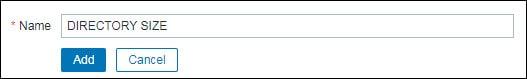 Zabbix monitor directory application