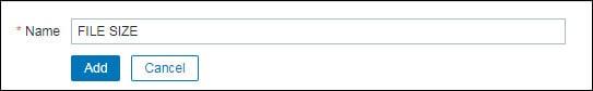 Zabbix monitor file size application