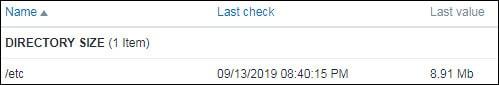 Zabbix monitor linux folder size
