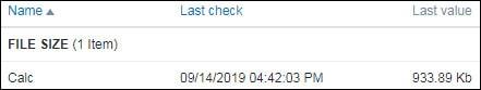 Zabbix monitoring file size