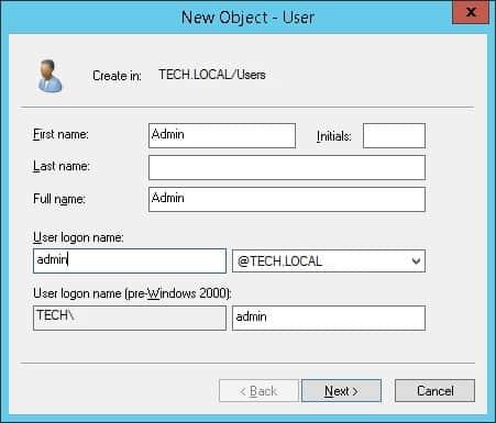 active directory admin account