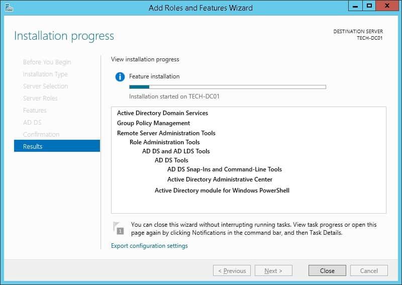 active directory installation windows