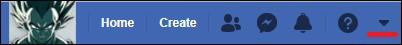 facebook top menu