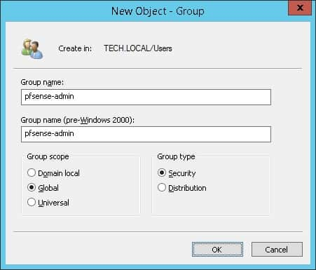 pfsense active directory group