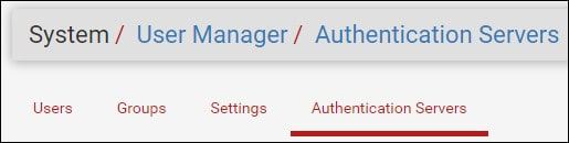 pfsense authentication servers