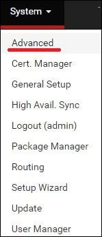pfsense console login