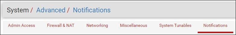 pfsense email notification