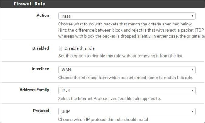 pfsense firewall snmp rule