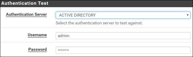 pfsense ldap authentication test