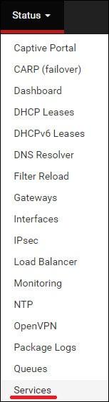 pfsense ntopng services
