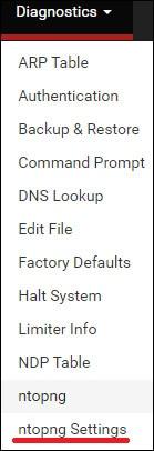 pfsense ntopng settings