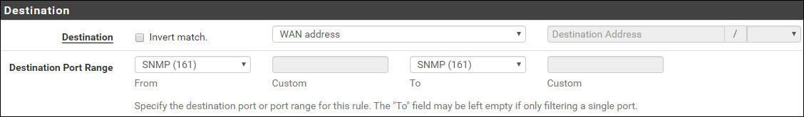 pfsense snmp firewall destination