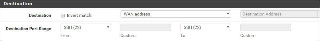 pfsense ssh firewall