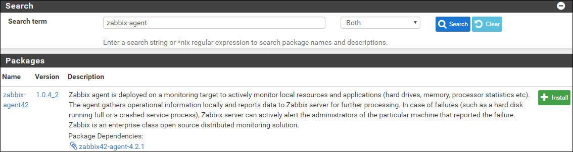 pfsense zabbix install