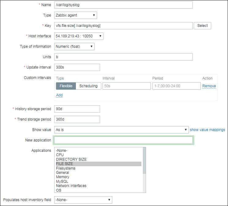 zabbix monitor file size