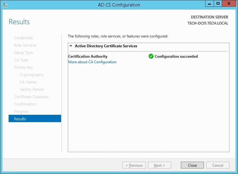 Windows cs authority results