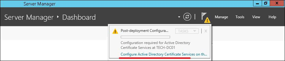 certification authority post deployment