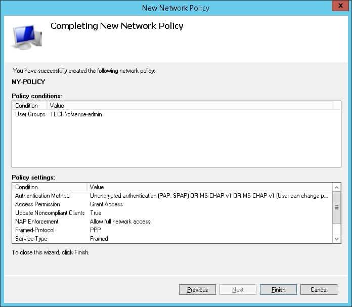 pfsense active directory authentication summary