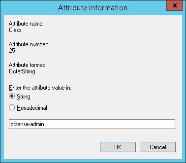 pfsense active directory radius attribute information