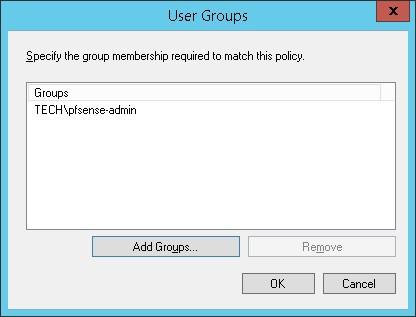 pfsense admin radius group