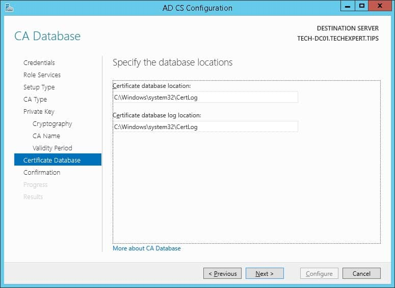 windows certificate database