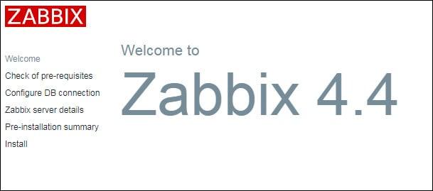 zabbix 44 install