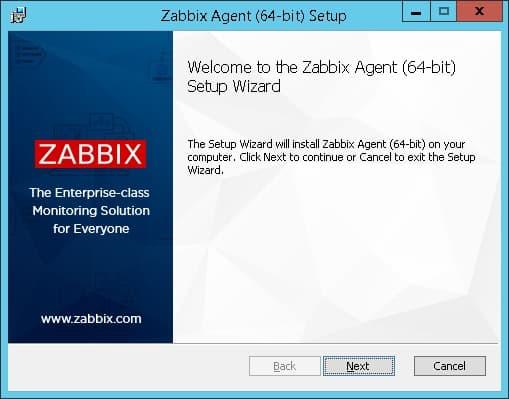 zabbix agent windows install