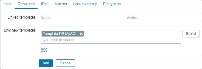 Zabbix Template DB MySQL