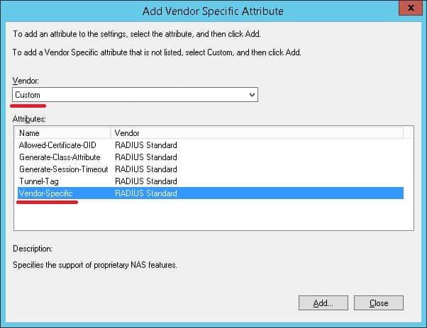 mikrotic vendor specific attribute
