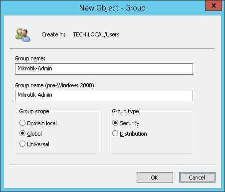 mikrotik active directory authentication