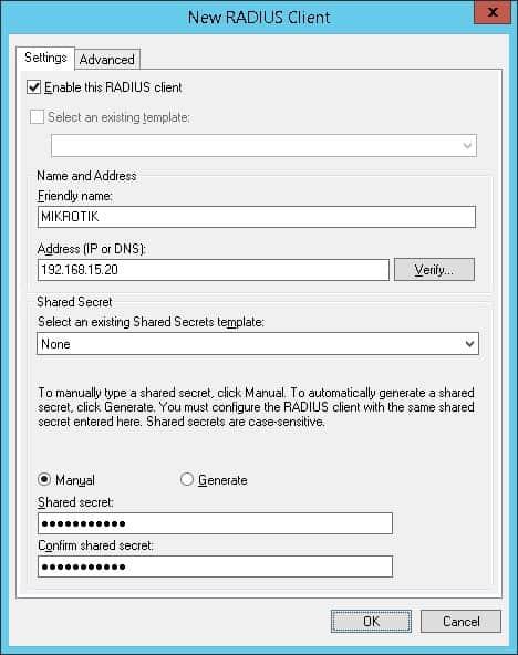 mikrotik radius client