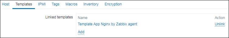 zabbix monitoring nginx server